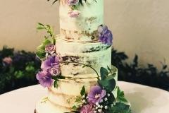 Classic Semi- Naked Wedding Cake